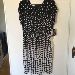Black and White Ombré Dot Dress